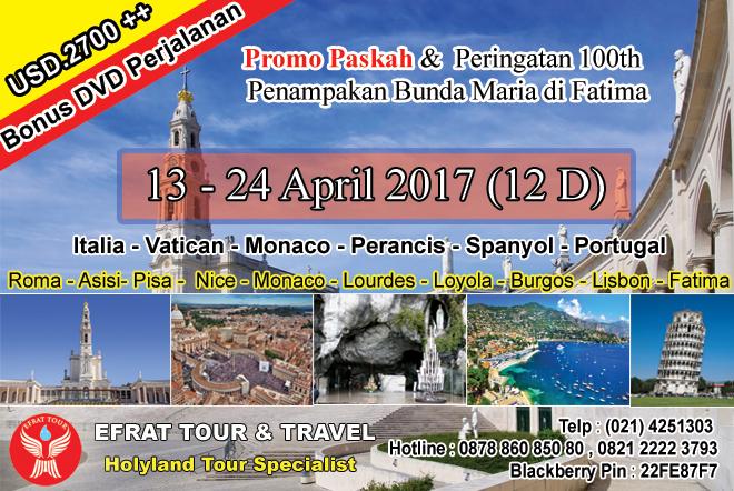 Paket Tour Holyland Katolik